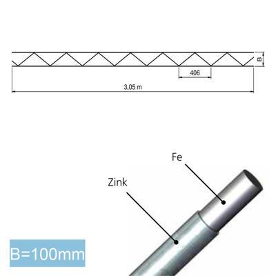 SIGMAFOR Mauerwerksbewehrung Rund 4mm, INOX