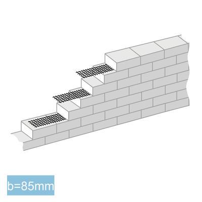 GRIPRIP-Mauerwerksarmierung (gelb)