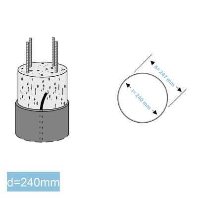 Rapidobat-Schalrohre spiral d= 240 mm