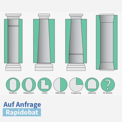 Rapidobat-Schalrohre Sonderformen spiral/gl