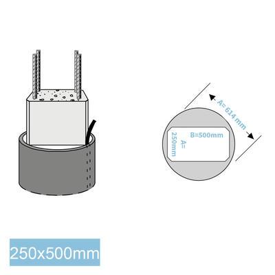 Rapidobat-Schalrohre 250 x 500 mm