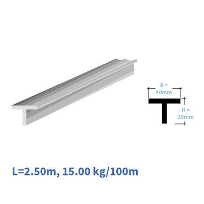 Kunststoff-T-Profil 40/20 mm