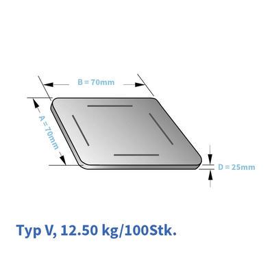 Kunststoff-Unterlagsplatten  Typ V