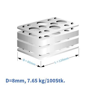 Kunststoff-Distanzplatten 120x80x08 mm
