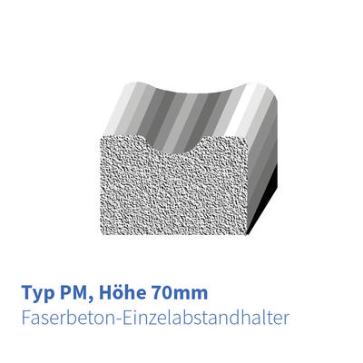 Betonabstandhalter Typ PM 70 mm