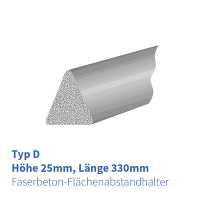 FB-Flächenabstandhalter Dreikant 25mm