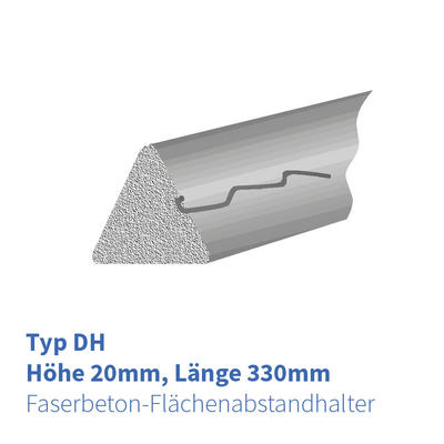FB-Flächenabstandhalter Dreikant Typ DH 20 mm