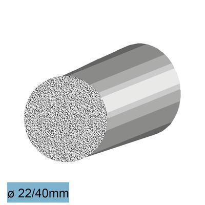 Faserbeton-Stopfen Ø 22x40 mm