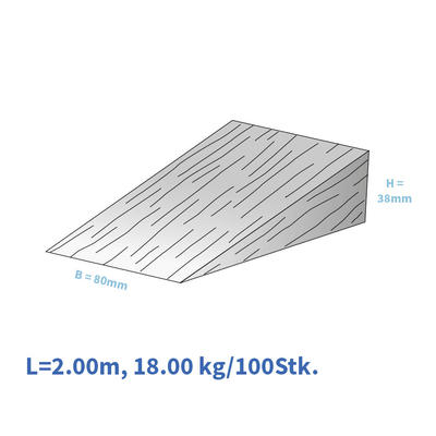 Holzkeile 200/080/38 mm violett