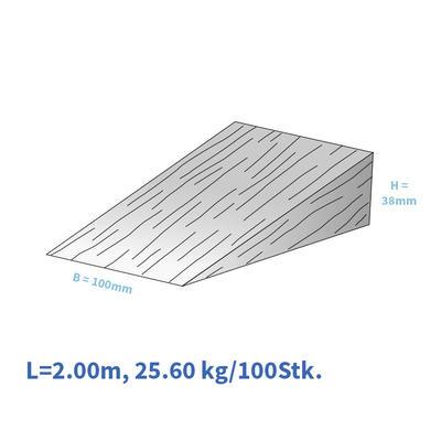 Holzkeile 200/100/38 mm, gelb